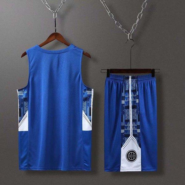 Blue Mens College University Basketball Jerseys Top Quality Jerseys Anti_UV Basketball Shirt Outdoor