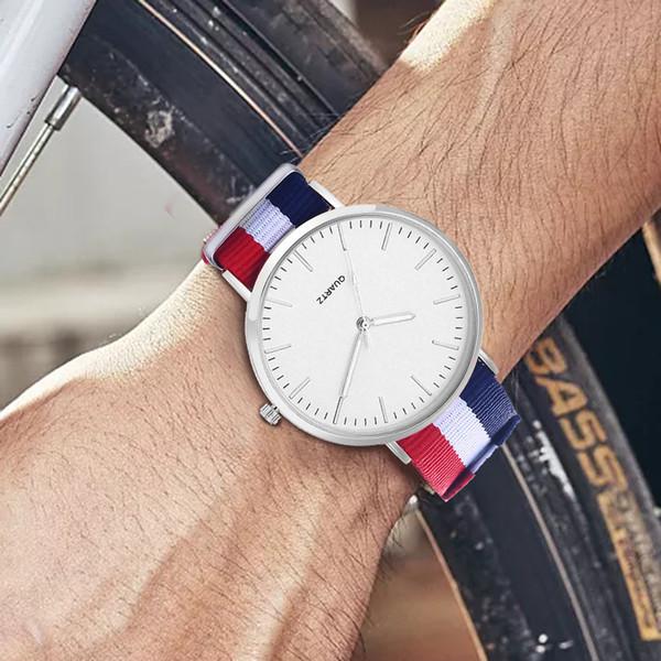 Fashion Ultra Thin Wrist Watch Men Watch Simple Designer Nylon Strap Men's Casual Clock relogio masculino reloj hombre
