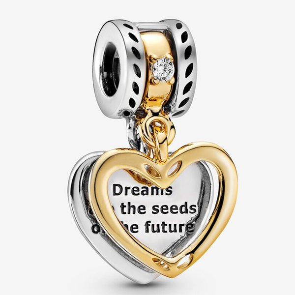 Fit Pandora Bracelet Jewelry Seeds of the Future Split He Charms Beads Sterling Silver 925 Original European Charms Gift Necklace Collection