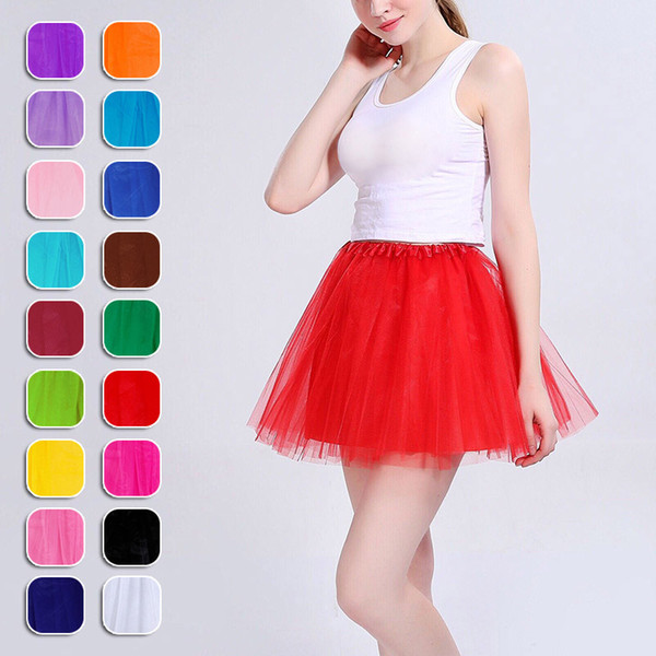 Nuevamente Dreamlike Mujeres Adulto Fancy Ballet Dancewear Tutu Pettiskirt Camisa Faldas Dance Fairy Tulle Dress FMS19