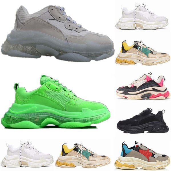 Scarpe Da Calcio Personalizzate 2019 New Fashion Paris 17FW Sneaker Triple S Triple S Casual Luxury Dad Designer Scarpe Donna Uomo Nero Sport Tennis