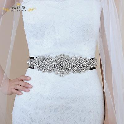 New spot hot sale bride belt wholesale / white ivory gray bride luxury rhinestone wedding belt / into the store to choose more styles