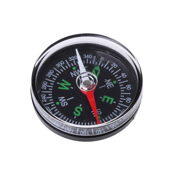 1 UNID Portátil Mini Preciso Brújula Guía Práctica para Acampar Senderismo Navegación del Norte Botón de Supervivencia Diseño Compás