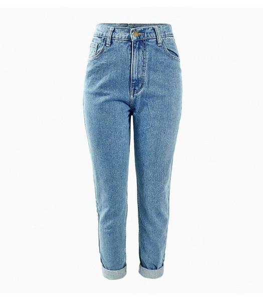 Damen 1886 Plus Size High Waist Washed Hellblau True Denim Hosen Boyfriend Jean Femme Für Damen Jeans