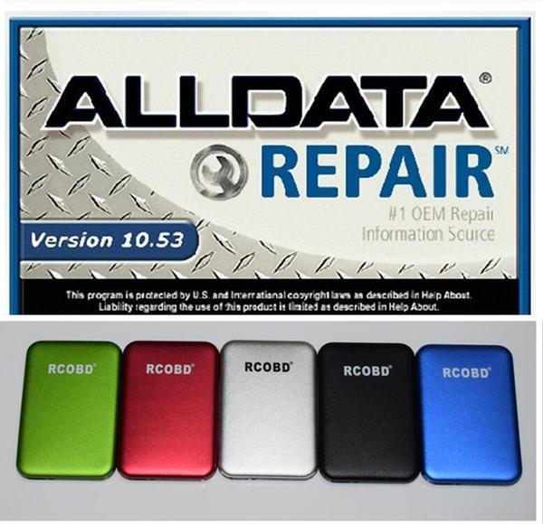 10.53 Alldata und Mitchell On Demand 2015 reparieren lebhaften Werkstatt-LKW 27 in 1 TB neuer Festplatte mit interner USB-Festplatte