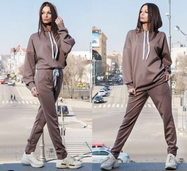 2019 Spring Women Two Piece Set Tracksuit Outfits Sport Suits Woman 2 Piece Pants Sets Women Solid Hoodies Sweatshirt sets
