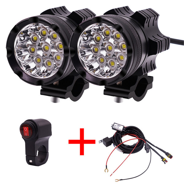 top popular 1 Pair Motorcycle LED Headlights 12V 90W 11000LM LED Motorbike Beam Headlamp Moto Spot Head Light Auxiliary Lamp DRL 2021