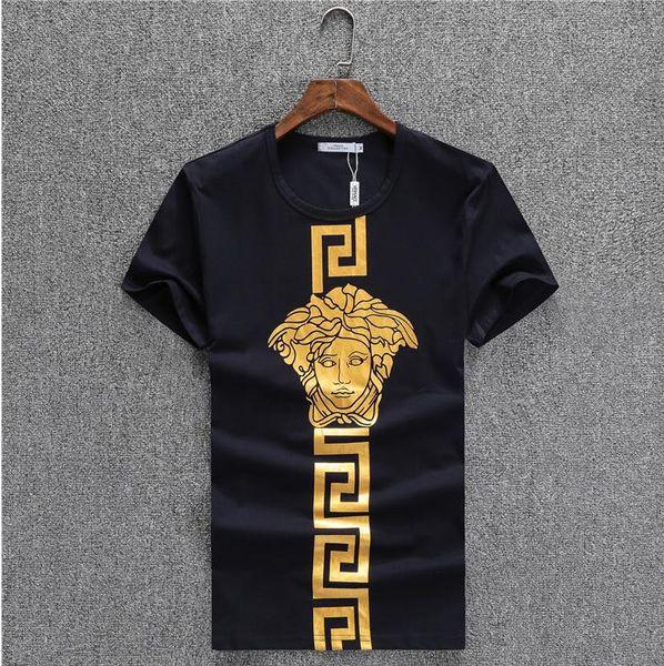 Cuello Mezcla Diseñador Compre Corta Hombre Verano Ropa Moda Manga Camisa Lujo Camisetas Para Algodón De Redondo IYgfvb76y
