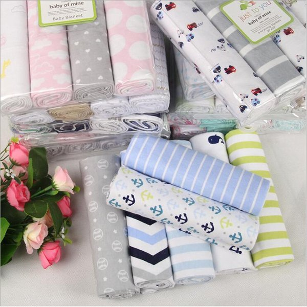 Baby Blankets Flannel Cotton Blanket Soft Printed Swaddle Summer Bedspread Quilt Sheets Sofa Cushion Wrap Air Condition Travel Blanket B5690