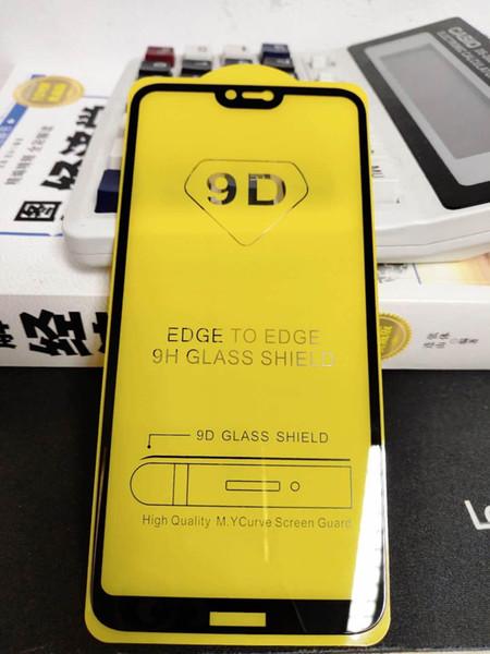 Für iphone 7 9d 5d vollkleber full cover gehärtetes glas für iphone x xr xs max 8 6 plus lcd displayschutzfolie für huawei magic 2 mate 30 1 + 6 t