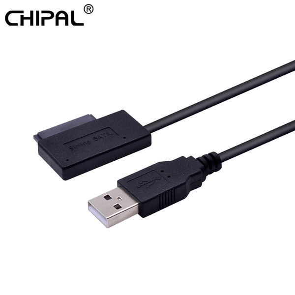 Chipal NUEVO USB 2.0 a SATA II Mini 7 + 6 adaptador de 13Pin para CD portátil / DVD ROM no engorda Convertidor de unidades cable Steady