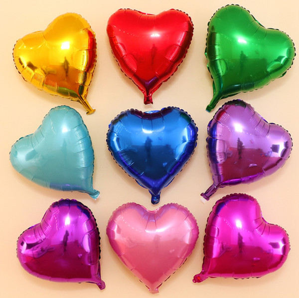 2019 18 pulgadas globo de aluminio en forma de corazón de boda Día de San Valentín decoración globo baby shower niños decorar suministros