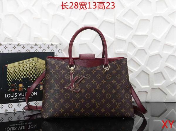 2019 styles Handbag Famous Design Brand Name Fashion Leather Handbags Women Tote Shoulder Bags Lady Leather Handbags Bags purse B008