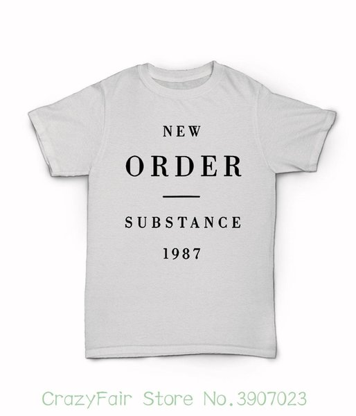 New Order Substance 1987 T Shirt 80's Synth Rock New Wave Blue Monday Bizarre Short Sleeves 100% Cotton