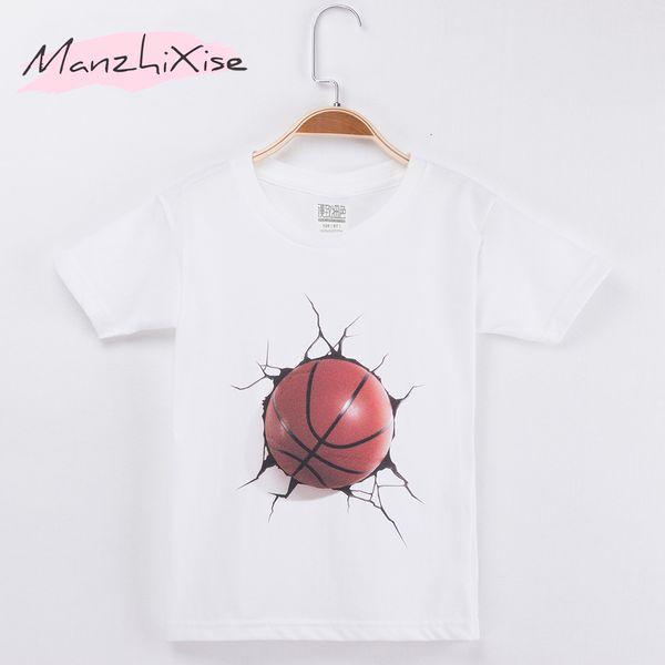 2019 Новый Повседневный Дети футболки Баскетбол Спорт 3D Хлопок Короткие Ребенка рубашка Дети футболки для мальчика и девочки Топы Одежда для младенцев T191014