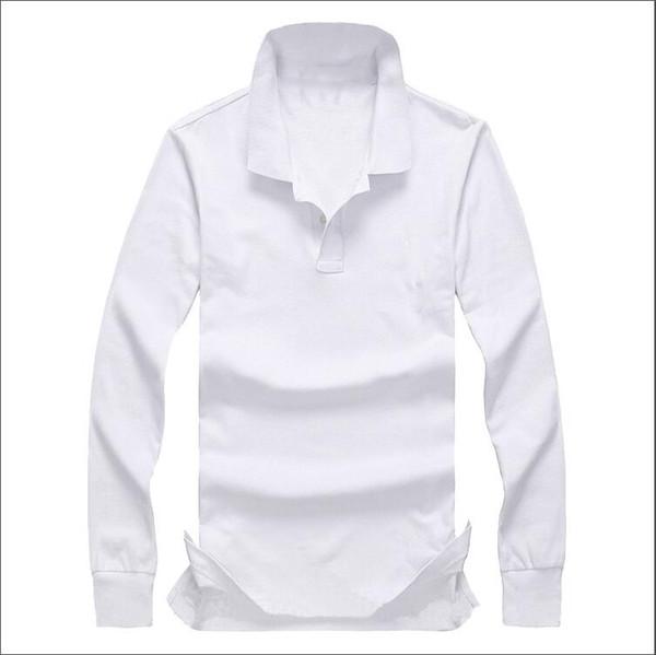 2019 yeni lüks ilkbahar ve sonbahar kış yaka erkek uzun kollu kentsel moda Ince pamuklu Zhudi örgü kumaş T-shirt erkek POLOS T-shirt à