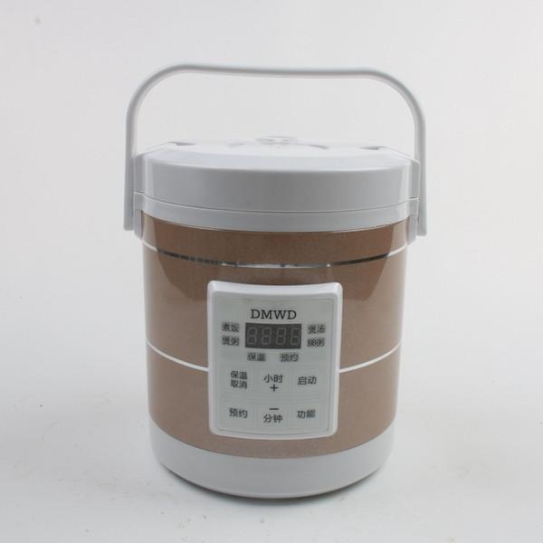 Dmwd 1.6l mini fornello di riso elettrico 12v-24v per auto e camion viaggio zuppa portatile pentola 12h appuntamento C19041901