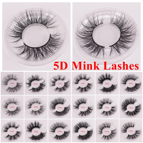 top popular New 3d Mink Eyelashes 25mm Long Mink Eyelash 5D Dramatic Thick Mink Lashes Handmade False Eyelash Eye Makeup Maquiagem LD Series and 5D 2020