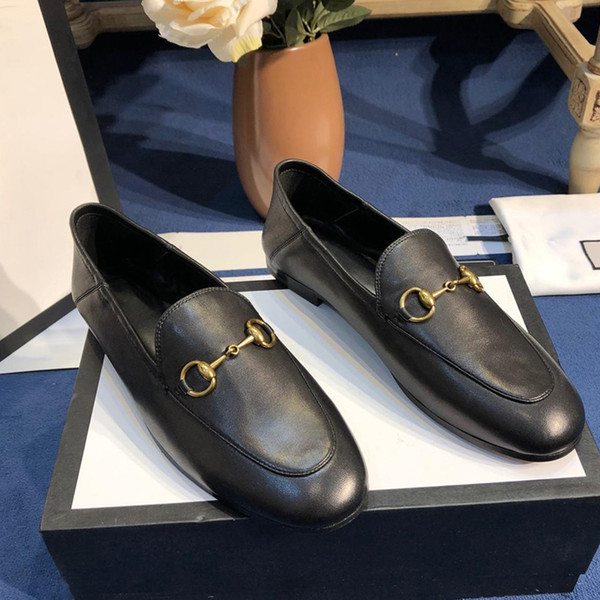 Breathable Single flat shoes spring of 2019 Designer the small leather shoes restoring ancient ways code 35-41 joker loaf shoes