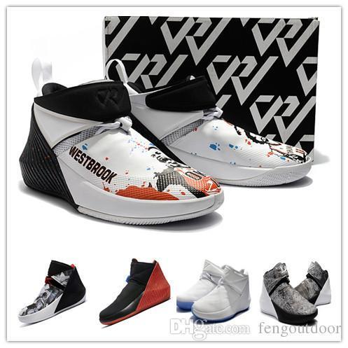 2019 SALDI Russell Westbrook Why Not Zer0.1 Immagine speculare George Adams North Carolina Scarpe da basket per uomo Zero 1 Sport Designer Sneakers