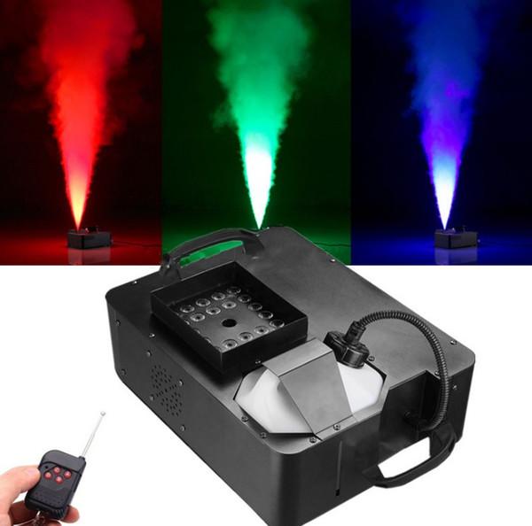 top popular 1500W Mist Haze Machine With 24x3W 3IN1 LED Lights DMX512 Wireless Control Smoke Machine  Stage LED Fog Machine  1500W Fogger LLFA 2021