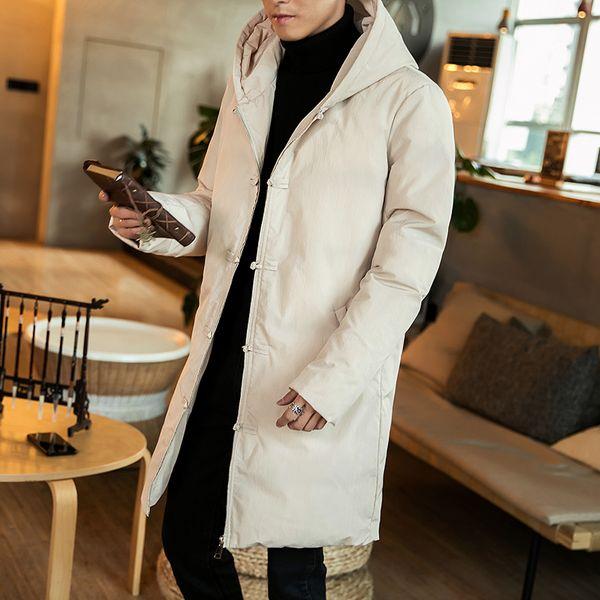 Coton d hiver de style chinois rembourré veste mâle long manteau veste  manteau hommes Slim 88544180d0b7