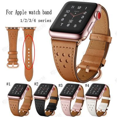 For Apple Watch Bands 44mm 40 mm 42mm 38mm Series 4 iwatch bands Replacement Wrist Bands Leather cowhide Strap Fashion Sports Bracelet