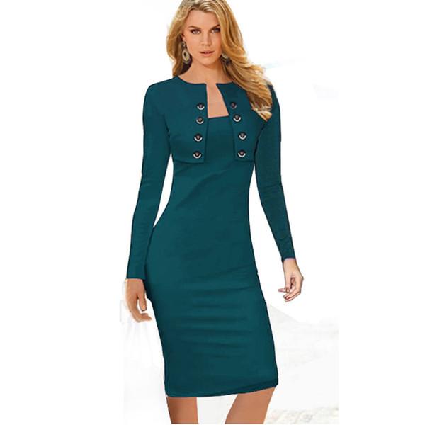 pretty cool pick up online store Acquista Abbigliamento Casual Da Donna Slim Business Casual Da Donna  Autunno Inverno Elegante Da Donna A Maniche Lunghe Da Ufficio Lavorare Su  Eb10 ...
