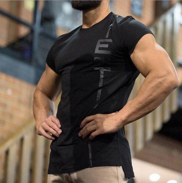 2019 gym Nouveau Fashion Doctor Muscle Brothers Nouveau T-shirt en coton pour hommes Sports Running Training T-shirt de gym