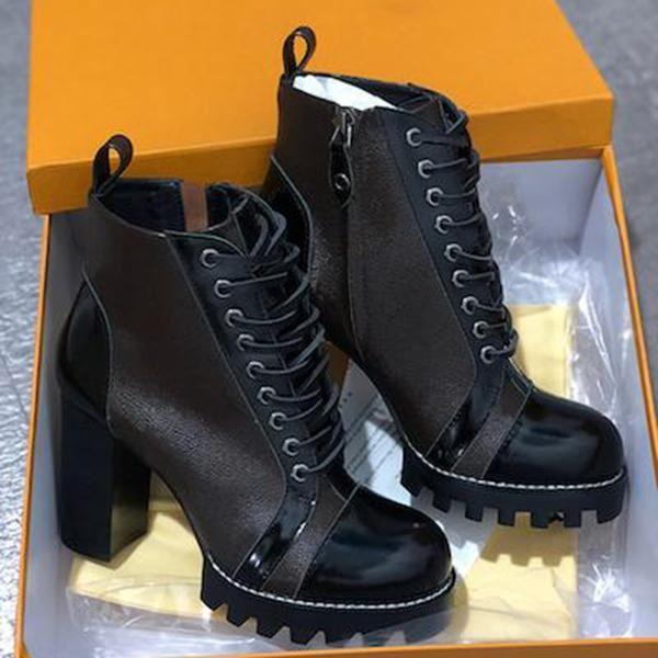 Ankle Boots Fashion Bottes Femmes Laureate Platform Desert Women Boot 2019 Womens Footwears Botas de mujer with Box Fast Ship Size 35-42