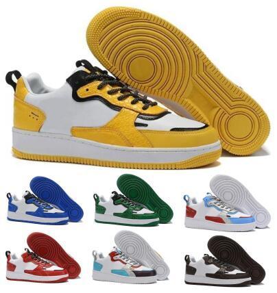 Travis Scotts Forcé 1 AC Chaussures de course de planche à roulettes Sneakers Blanc Jaune 2020 Nouveau Hommes Femmes Arrivée Homme Sport Baskets Designer Chaussures