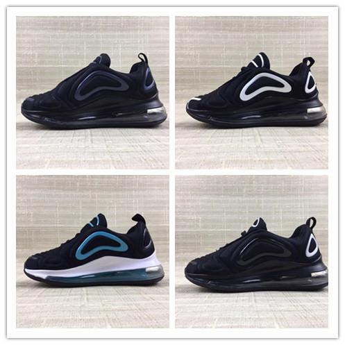 2019 Hot New 720 Kids Baby Running Shoes Boys Girls 72C Black White Red Blue Sports Air Sneakers Designer Shoes Size 28-35