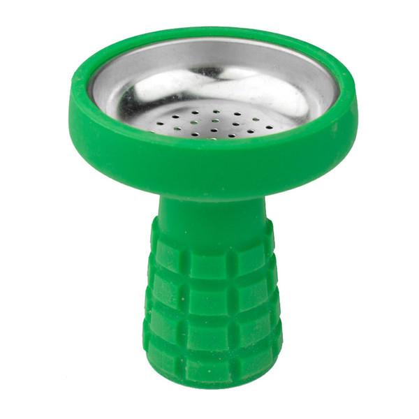 NUEVO ONE Hole Silicona Shisha Hookah Bowl Cabeza de silicona para Shisha Manguera de carbón Puntas de polilla Tazón de cerámica Lámina para fumar