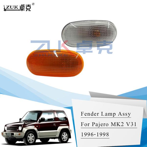 ZUK Lampe de clignotant latéral pour garde-boue latérale pour MItsubishi Pajero 2 V31 V32 V33 1996-1998 COLT L200 Lancer GALANT
