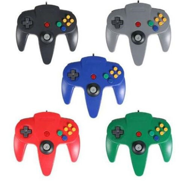 New 5 color Long Handle Controller Pad Joystick Game System for Nintendo 64 N64 without Retail packaging DHL