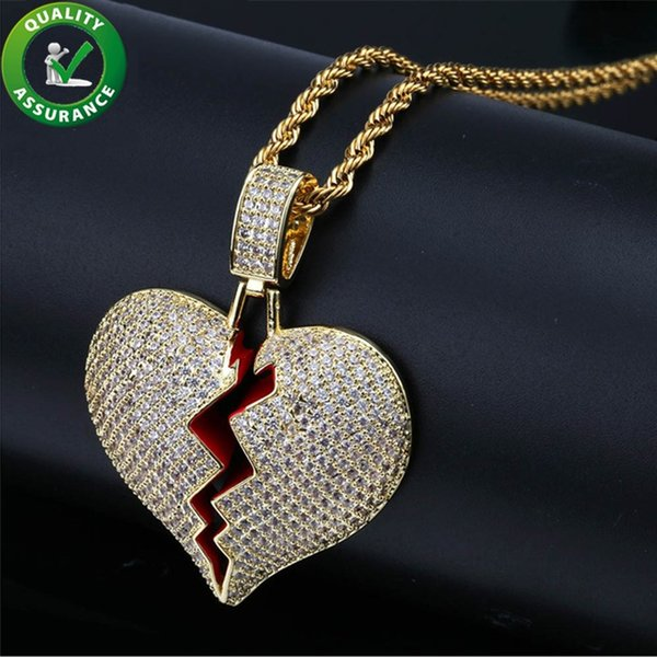 Iced Out Pendant Designer Necklace Hip Hop Jewelry Mens Gold Chain