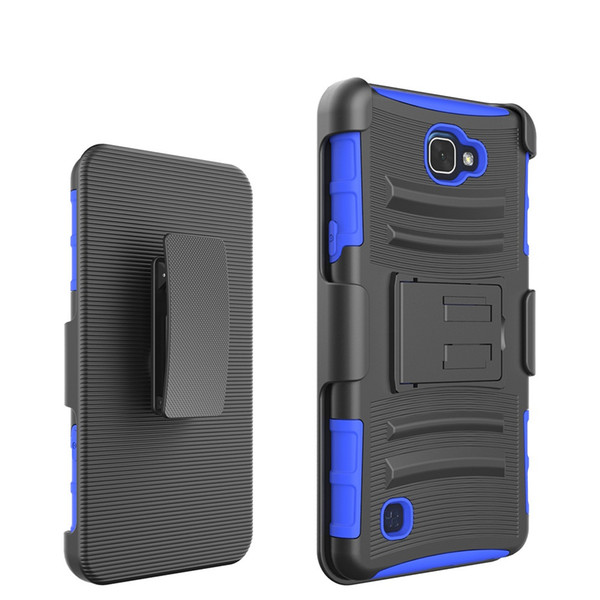 Dual Layer Hybrid Defender Kickstand Case for LG V20 X Power K210 K220 X Screen/View K500 Cam K580 Cover with Belt Clip