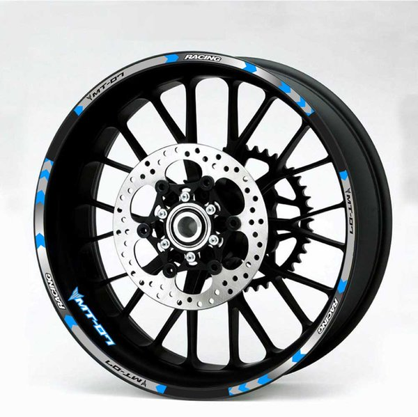 For YAMAHA MT-07 motorcycle wheel decals Reflective stickers rim stripes # YAMAHA MT 07