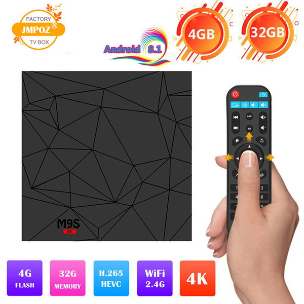 2019 Android 8.1 TV Box Rockchip RK3328 4GB 32GB with Google Play Store Netflix Youtube M9S Y2 Smart IPTV BOX USB3.0 4K media player