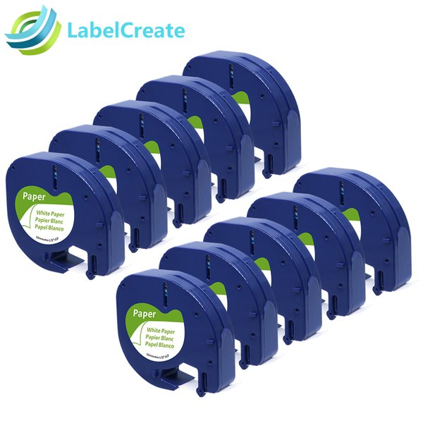 2019 Compatible For DYMO LetraTag Tape Label 91200 91220 Black On White  12mm*4m Paper For DYMO Label Printer Tape Maker From Boluohui, $41 65 |