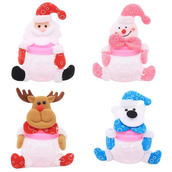 Weihnachtsdekor-Geschenk Plastikkürbis Zuckeraufbewahrung Pot Biscuit Box Jar