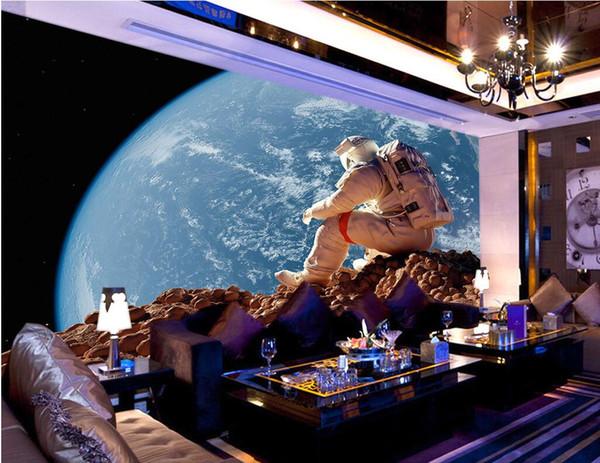 WDBH 3d papel de parede personalizado foto universo Fantasia montanhas estreladas tv fundo sala de estar home decor 3d murais de parede papel de parede para paredes 3 d