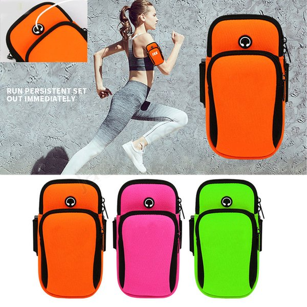 Free Shipping Jogging Gym Armband Sports Running Arm Band Case Cover Bag For Cell Phone