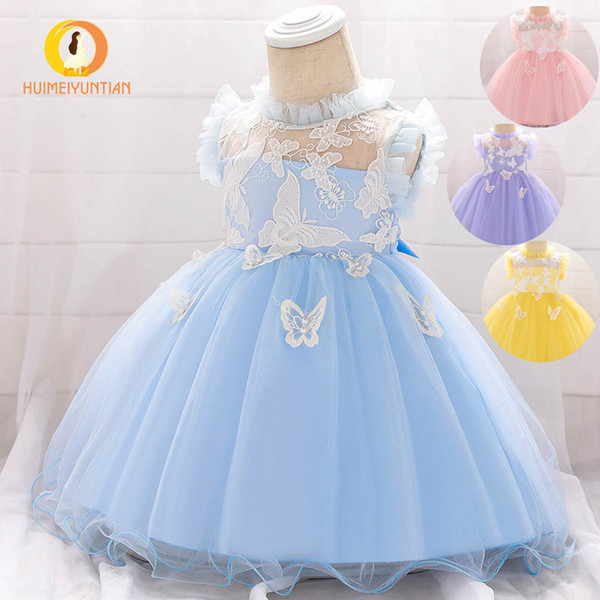Vestidos de niña INS vestido de princesa recién nacido niña 1er cumpleaños vestidos de niñas de flores para bodas ropa de diseñador de niña A7969