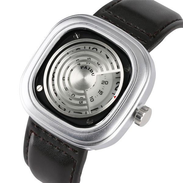 Timekeeper Special Watch Case Quartz Watch Movement for Men Women High-tech Sense Quartz Analog Wrist Watches Leather Band