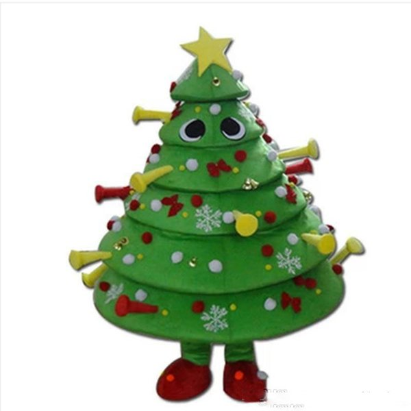 2018 Hot sale Christmas tree Cartoon Mascot dress dress up adult size costume carnival mascot costume party free valentine's day