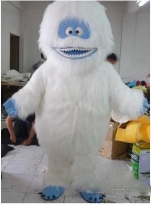 2018 Descuento de venta de fábrica Blanco Snow Monster Traje de la mascota Adulto Abominable Muñeco de nieve Monster Mascotte Traje Traje de disfraces