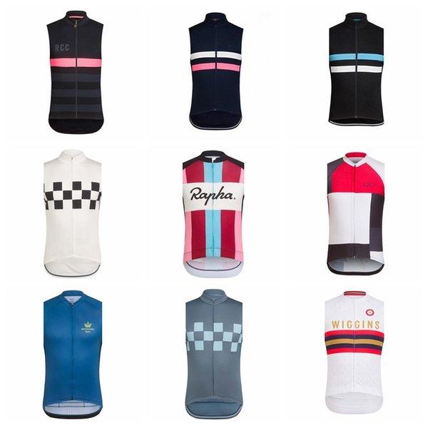 Yeni 2019 RAPHA ekibi Bisiklet Kolsuz forması Yelek 100% Polyester Yaz Bisiklet Formaları Kısa Kollu yelek K032705