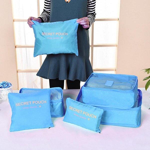 Multi-function Home Waterproof Clothes Bag 7pcs Set Travel Storage Bag Large Capacity Luggage Finishing Bags Set With Shoe Bags DH0851