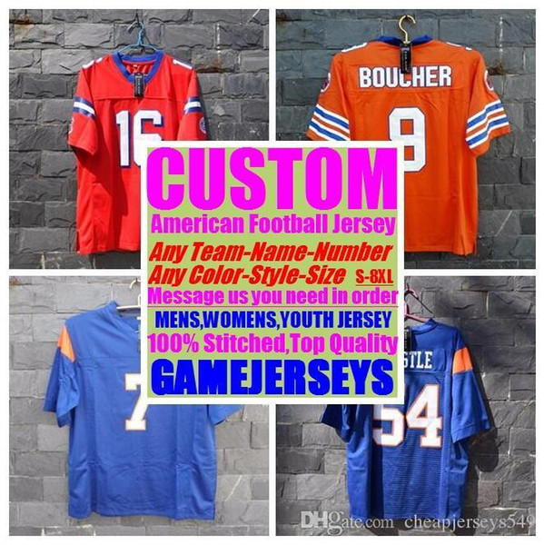 top popular 2019 Personalized american football jerseys college cheap authentic color rush sports jersey stitched mens womens youth kids 4xl 5xl 6xl 7xl 2019